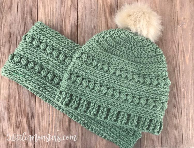 5 Little Monsters: Bead Stitch Crochet Hat