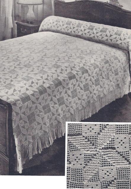 Buy Vintage Crochet Bedspread Pattern Motif Block Popcorn online | eBay