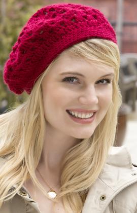 The Bridgette Beret is a free crochet hat pattern from Red Heart