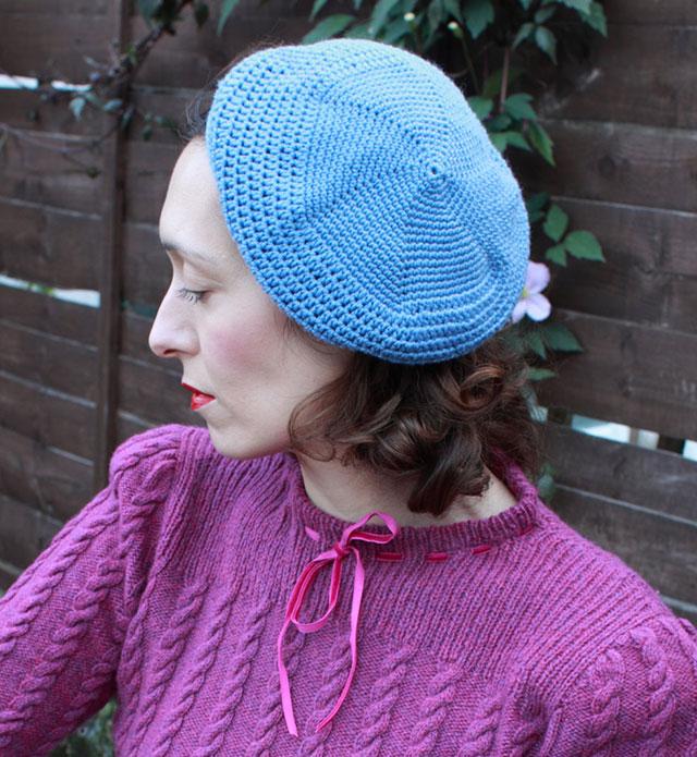 A 1930s Crochet Beret - My First Ever Me Made Crochet Garment