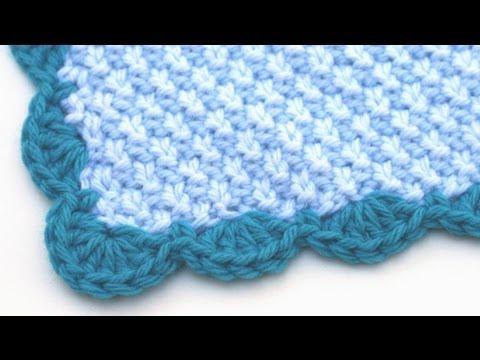 Crochet for Knitters - Scalloped Edge - YouTube
