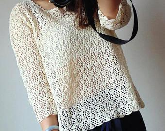 Crochet blouse | Etsy