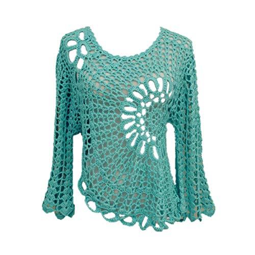 White Crochet Blouse: Amazon.com
