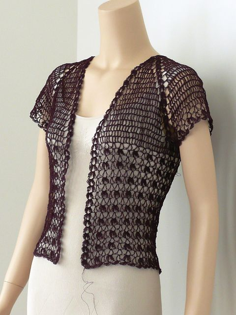 Lace Crochet Bolero pattern by Doris Chan | Knitting and crochet