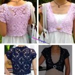 VARIOUS STYLES OF CROCHET BOLERO PATTERN