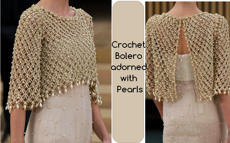 ergahandmade: Crochet Bolero with Pearls + Diagrams + Pattern Step