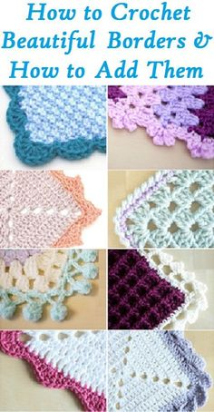 32 Best Crochet Edging and Borders images in 2019 | Yarns, Crochet