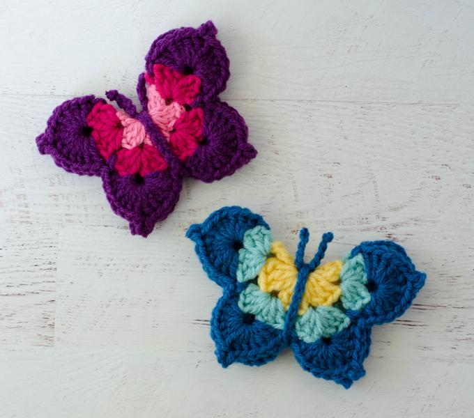 Crochet Butterfly Pattern - Crochet 365 Knit Too