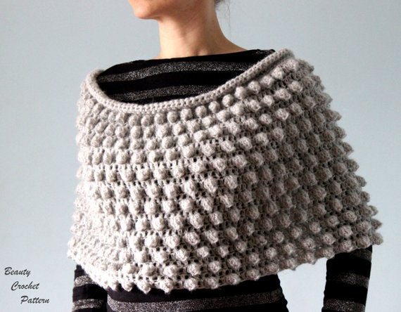 Crochet Poncho Pattern Womens Crochet Poncho Pattern | Etsy