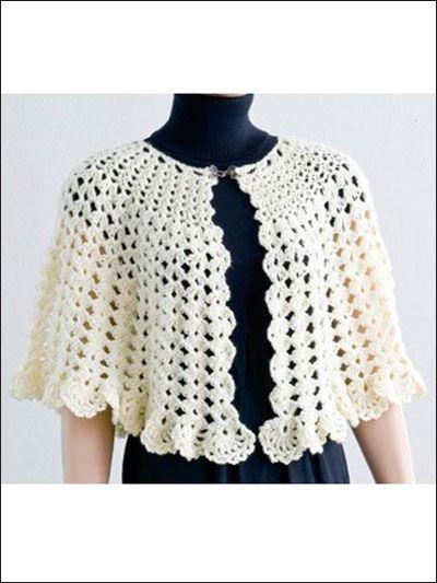 Crochet - Accessory Patterns - Poncho, Shrug & Wrap Patterns - Easy