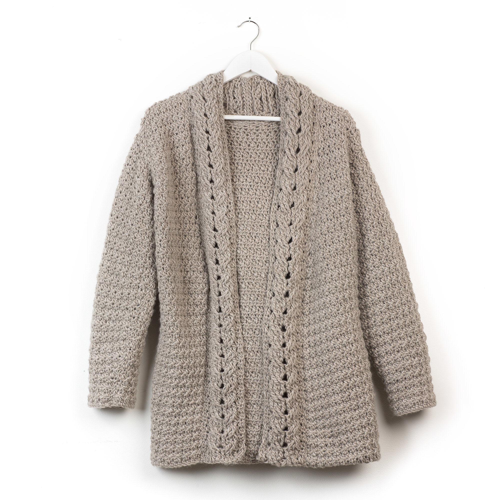 Patons Slouchy Crochet Cardigan, XS/S | Yarnspirations