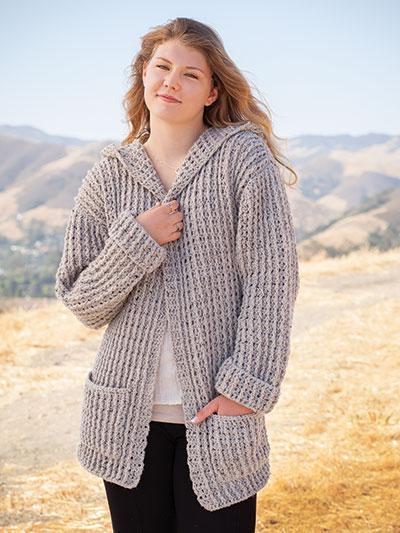Crochet Downloads - ANNIE'S SIGNATURE DESIGNS: Hoodie Cardigan