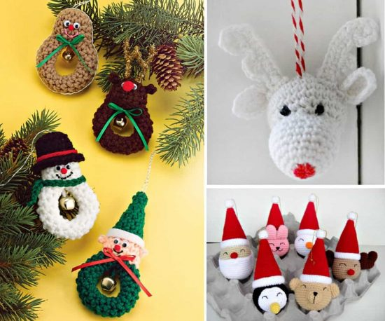The Sweetest Crochet Christmas Ornaments Patterns | The WHOot