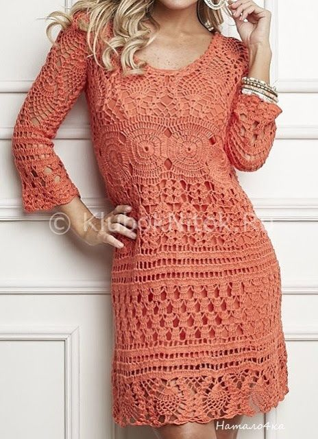 Little Treasures: 4 Fall Crochet Dresses - free charts | Beautiful