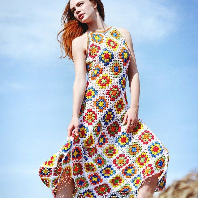10 Types of Unique Crochet Dresses   Crochet Blocks and Squares
