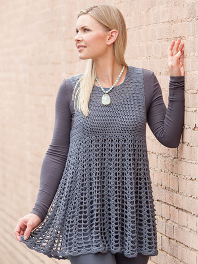 Crochet Clothing Patterns - Cheery Tunic Crochet Pattern