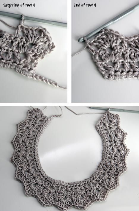 Very pretty! Crochet lace collar with pics and tutorial {I think I