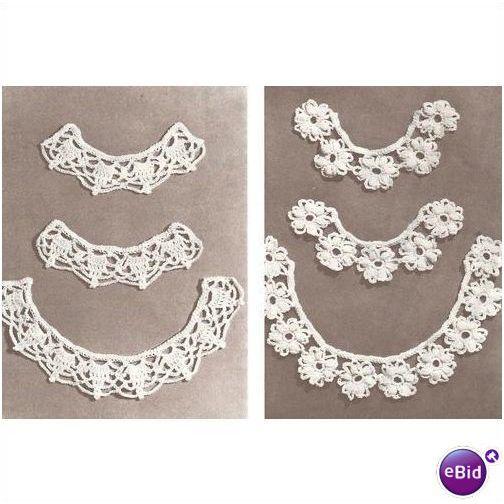 Crochet Collar Pattern Motif & Scalloped Collar & Cuffs on eBid United