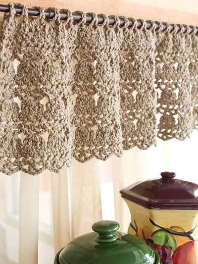Feather-Stitch Valance- What a fantastic idea! Cheaper than what you