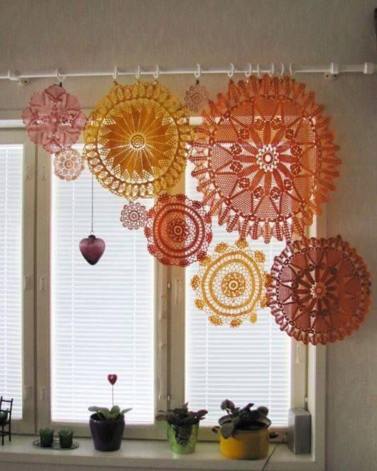 This kind of thing would make great privacy curtains! | Crochetaway