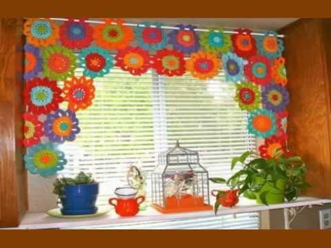 Easy Crochet curtains - YouTube