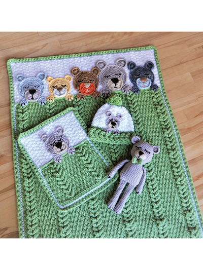 Sleep Tight Teddy Bear Crochet Designs