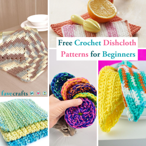 23 Free Crochet Dishcloth Patterns for Beginners | FaveCrafts.com