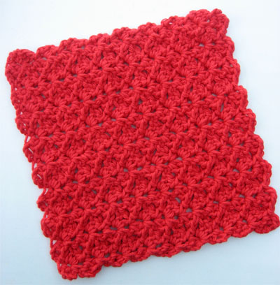 Quick & Easy Crochet Dishcloth Pattern {FREE} | Skip To My Lou