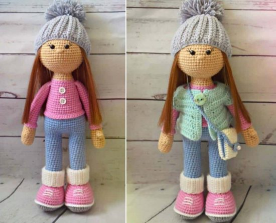 Amigurumi Doll Free Pattern | Crochet dolls free patterns, Crochet ... | 446x550