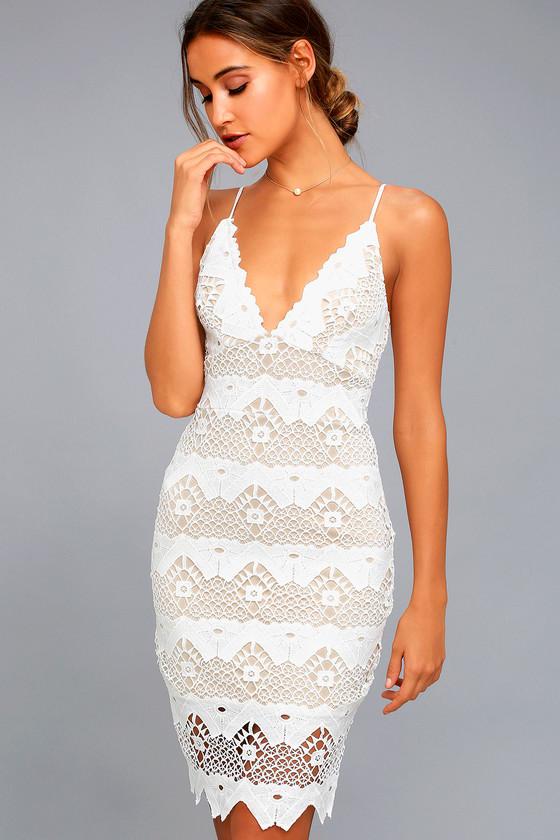 Lovely White Dress - Crochet Lace Dress - White Lace Dress - LWD