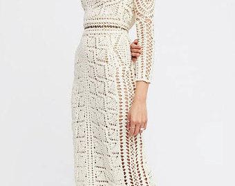 Crochet beach dress   Etsy