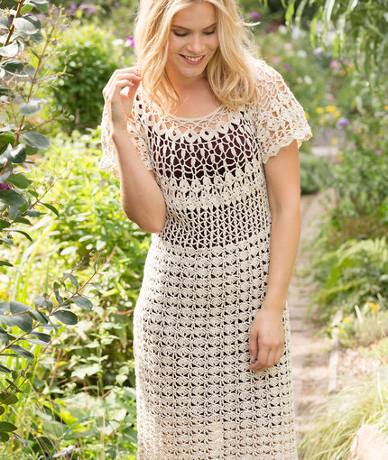Natural Beauty Crochet Dress | Red Heart