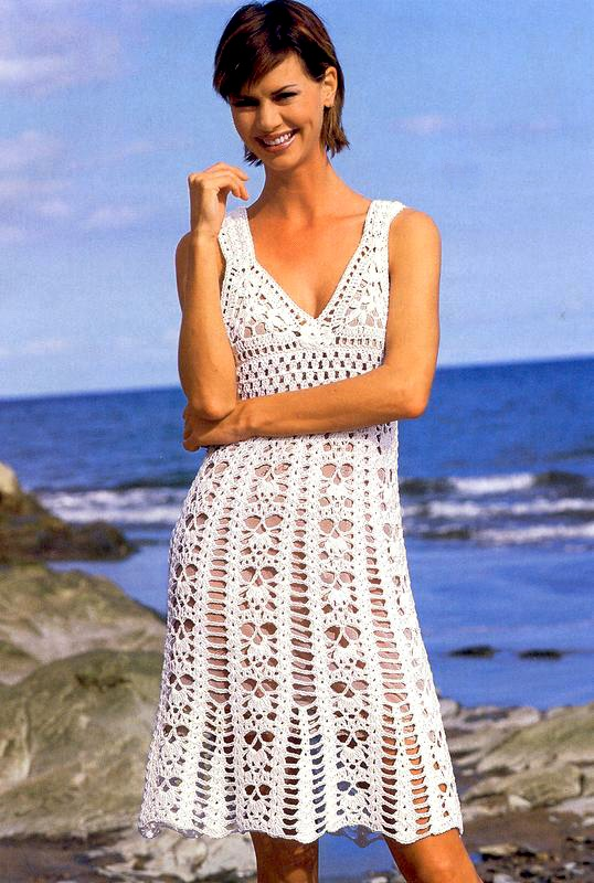 Beach dress PATTERN, beach crochet dress pattern, sexy resort dress
