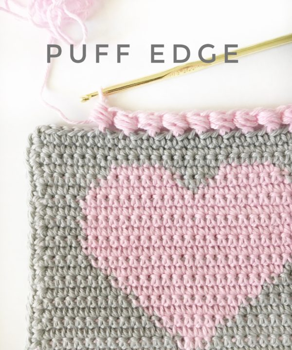 Crochet Puff Edge Stitch | Daisy Farm Crafts
