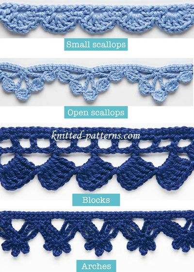 20 + Crochet Free Edging Patterns You Should Know | Cute ideas