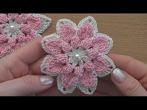 Crochet flower tutorial VERY EASY - YouTube