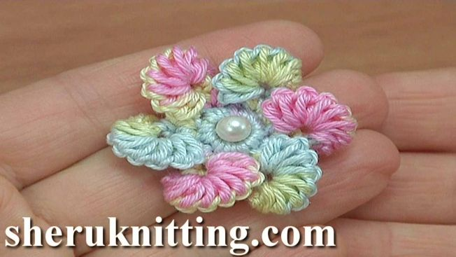 Easy to Make Crochet Flower - Tutorial 194