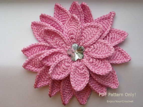 Crocheted Flowers For Baby Hats | Knitting Bordado