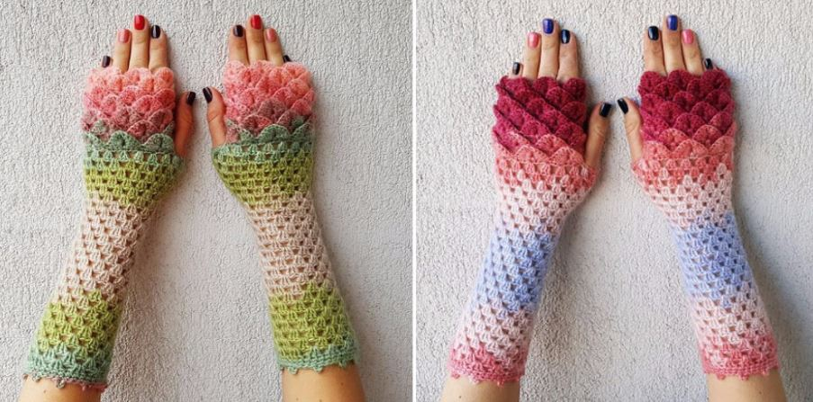 Where To Buy And How To Make Dragon Crochet Gloves - Simplemost