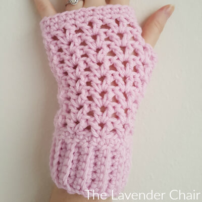 Valerie's Fingerless Gloves Crochet Pattern - The Lavender Chair