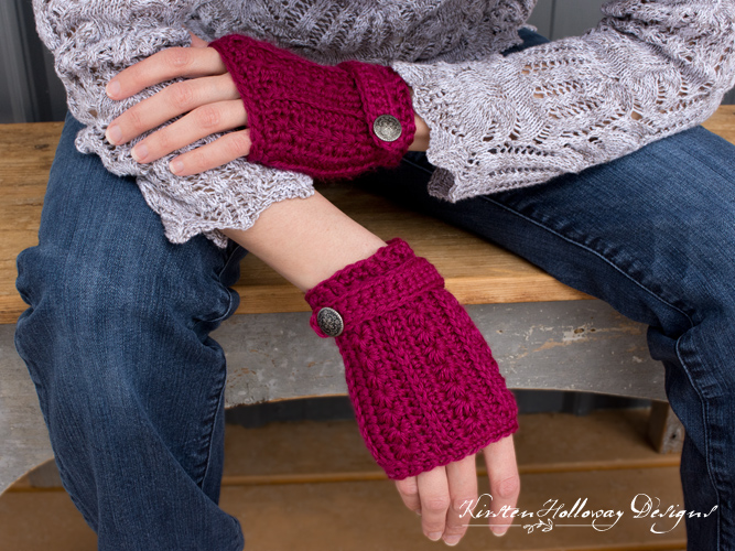 Pattern - Heartstrings Fingerless Gloves - Kirsten Holloway Designs