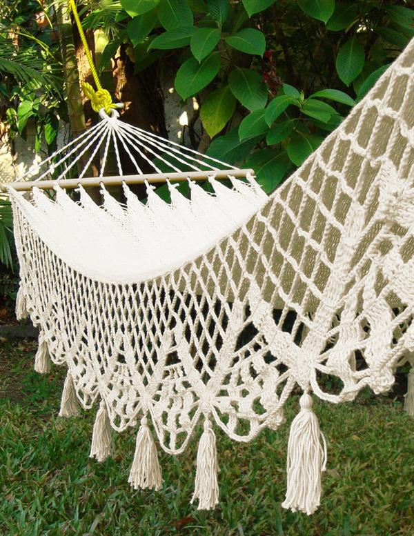 Wedding Hammock | White Cotton Crochet Hammock