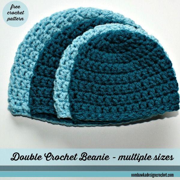 Simple Double Crochet Hat - A Free Crochet Pattern | Crochet LOVE