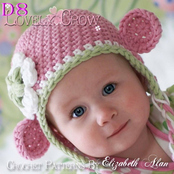 Baby Crochet Hat Children Knit Girls Boys Pink Monkey Hat baby