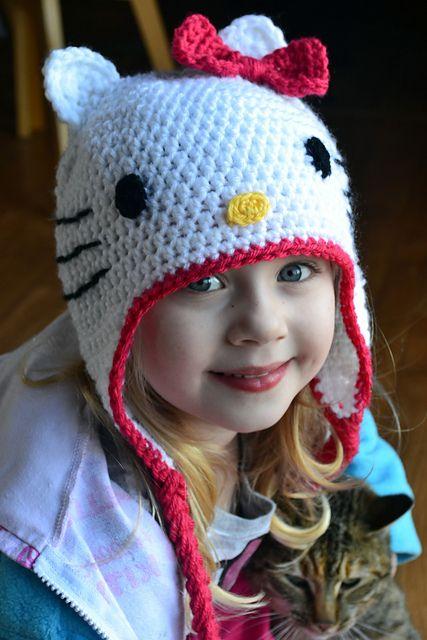 crocheted Hello Kitty hat pattern | Crochet - Children/Toddlers