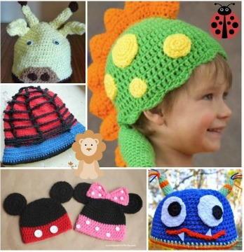 Crochet Animal Hats: 55 Free Crochet Hat Patterns for Kids