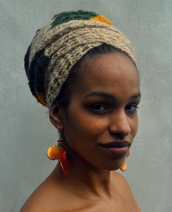 Crochet dreadlock wrap, rasta crown, locks cover ILA Crochet Head