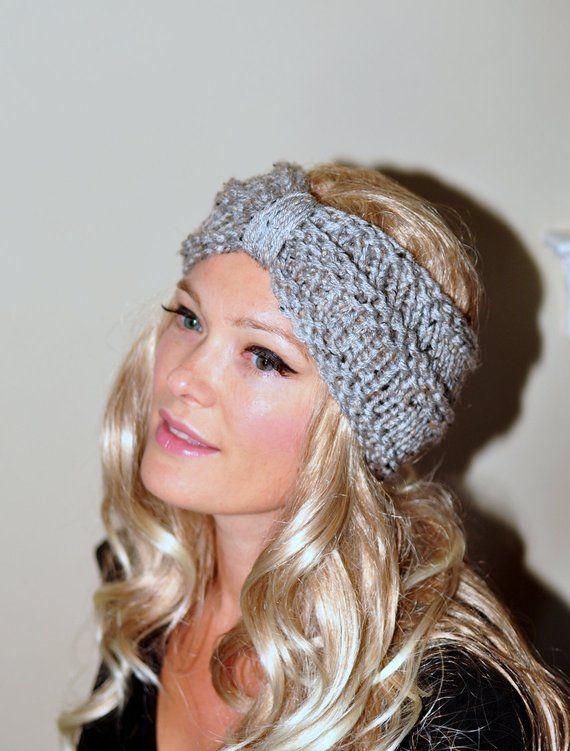 Turban Headband Crochet Head wrap Knit ear warmer Earwarmer CHOOSE