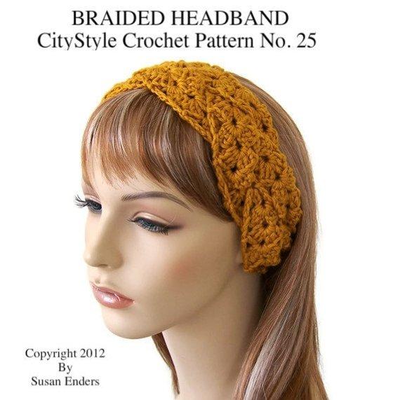 Crochet Headband Pattern Braided Headband Crochet Headwrap | Etsy