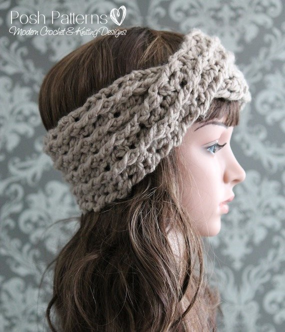Crochet PATTERN Crochet Headband Pattern Turban Headband | Etsy